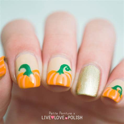 Pumpkin Nail pumpkin nail tutorial peinture
