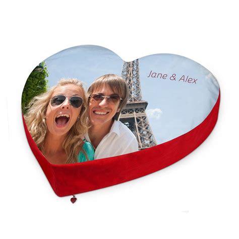 cuscini a cuore con foto cuscino cuore personalizzato con foto foto regali originali