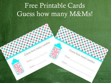 guess my number printable cards guess how many in the jar
