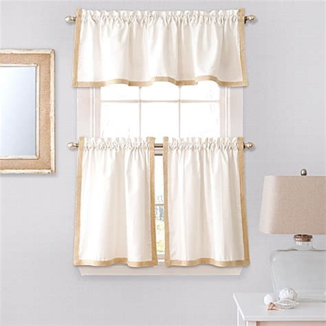 36 inch curtain buy seaview 36 inch window curtain tier pair in white from