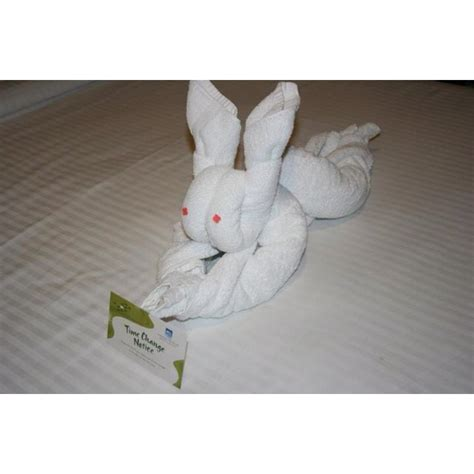 Towel Origami Animals - towel rabbit towel origami tutorial http