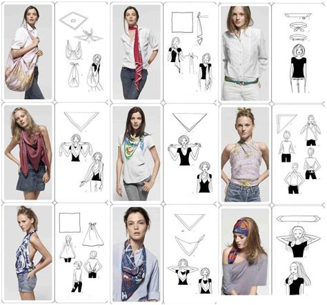 printable directions on how to tie a scarf how to tie a scarf 9 ways to tie a scarf step by step