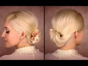 working mediun hairstyle elegant updo for medium long hair tutorial for work