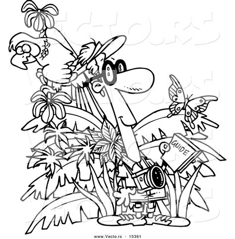 jungle vines coloring pages black and white jungle clip art 42