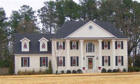 colonial style homes colonial two story home plans for colonial style house plans plan 6 1389