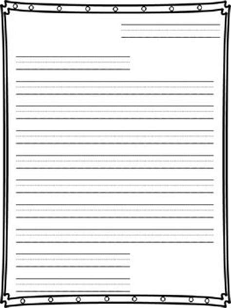friendly letter writing paper writing papers teaching
