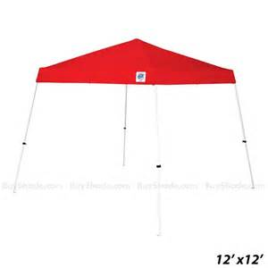 12x12 Canopy With Sides by Buyshade E Z Up Vista 12x12 Standard Tent With Red Canopy