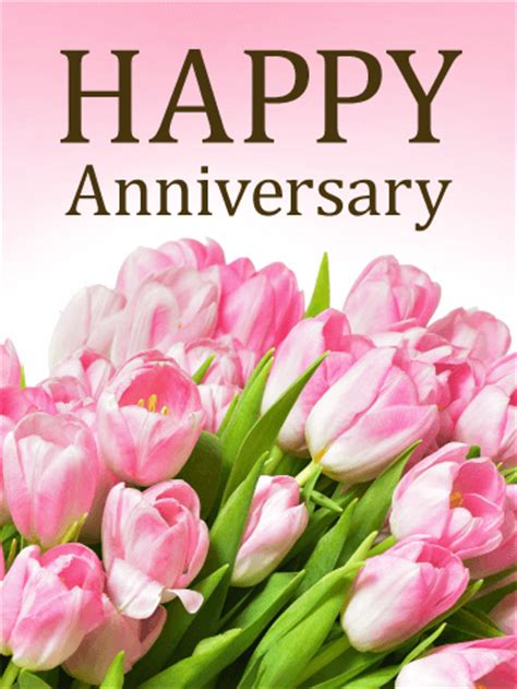 wedding anniversary flower by year pink happy anniversary card birthday greeting cards by davia