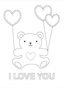 i love you teddy bear coloring pages pinterest the world s catalog of ideas