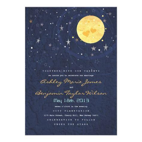 moon wedding invitations starry moon wedding invitation 5 quot x 7 quot invitation card zazzle