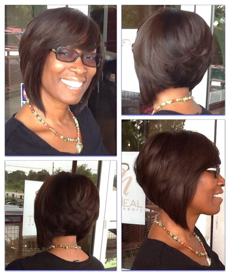 partial natural weave hairstyles toni neal stylist full sew in layered bob yelp