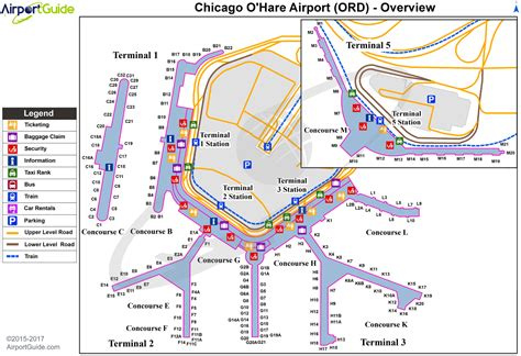 ord terminal map chicago chicago o hare international ord airport terminal maps travelwidget