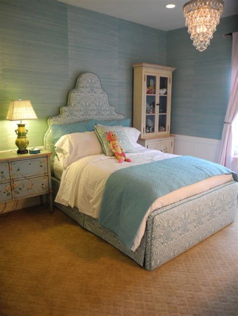 turquoise bedroom wallpaper blue grasscloth design ideas