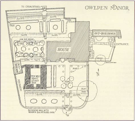 backyard layout plans garden visits owlpen manor tudor manor house and