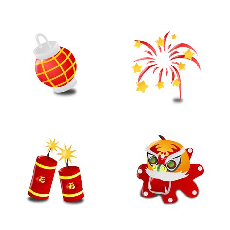 new year icon clipart new year s icon collection set