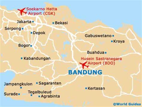 map of bandung city bandung landmarks and monuments bandung west java indonesia
