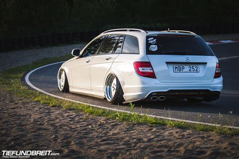 bagged mercedes wagon tief breit 187 class act david s w204 wagon