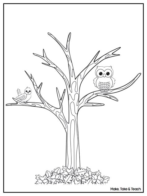 tree without leaves coloring printable coloring pages