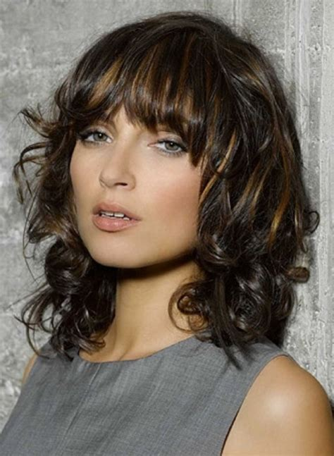 curly haircuts ann arbor layered curly hairstyle with side swept fringes helen hunt