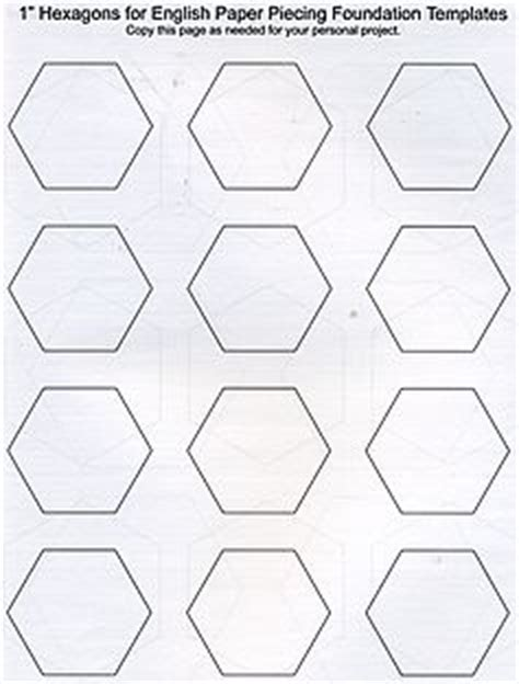 paper hexagon templates for patchwork printable paper piecing templates paper