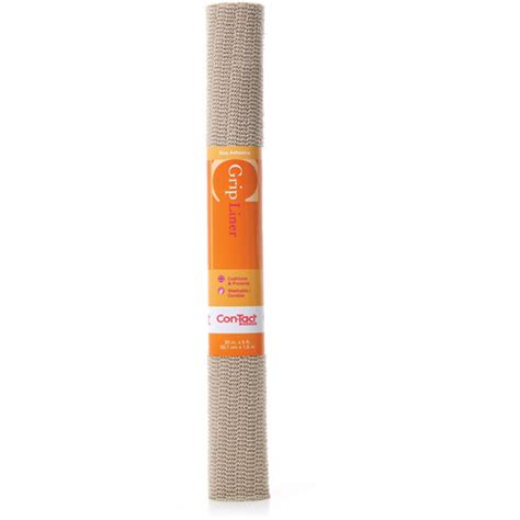 Grip Shelf Liner by Con Tact Brand Grip Non Adhesive Shelf Liner Taupe