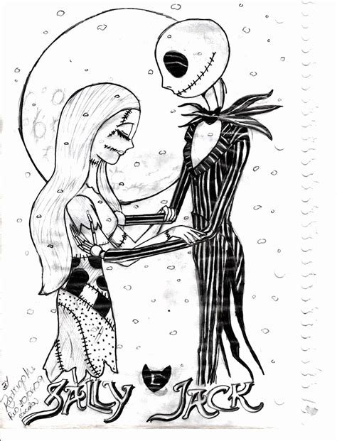 Nightmare Before Christmas Coloring Pages Printable Nightmare Before Coloring Pages For Adults