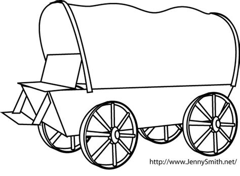 covered wagon template clipart best