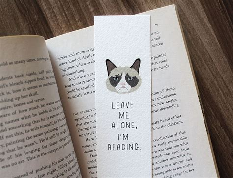 Bookmark This by Grumpy Cat Bookmark Leave Me Alone I M Reading Cat Lover