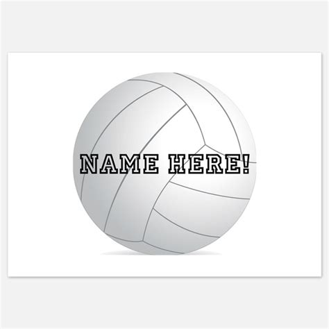 printable volleyball name tags volleyball invitations volleyball announcements