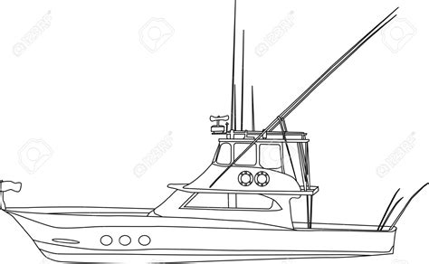 how to draw a fisherman boat fishing boat clipart vector art pencil and in color