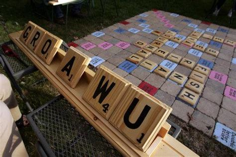 outdoor scrabble board lawn scrabble a you can make then play