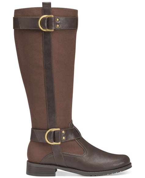 aerosoles boots aerosoles ride line boots in brown lyst