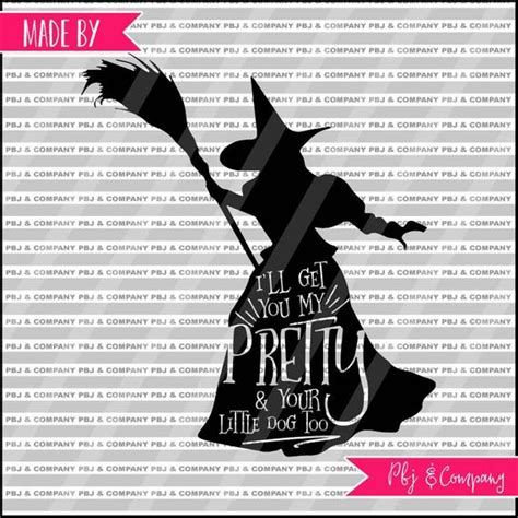 wicked witch quote diy cutting file svg png dxf