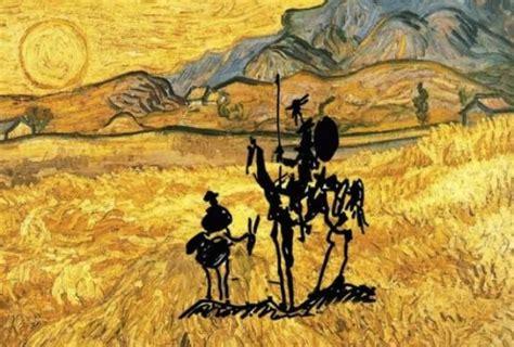 picasso paintings don quixote don quixote sancho panza sketch by pablo picasso 1955