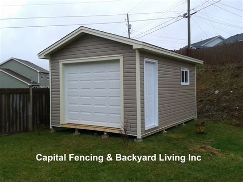 Overhead Shed Door Shed S Capital Fencing And Backyard Living