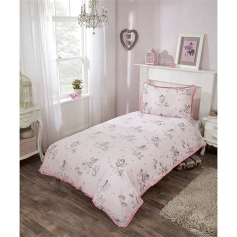 fairy bedding kids fairy single duvet set pink girls bedding b m