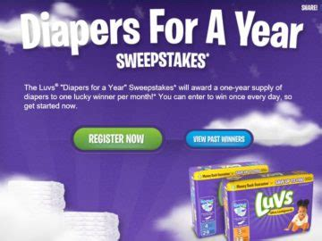 Diapers For A Year Sweepstakes - luvs diapers for a year sweepstakes