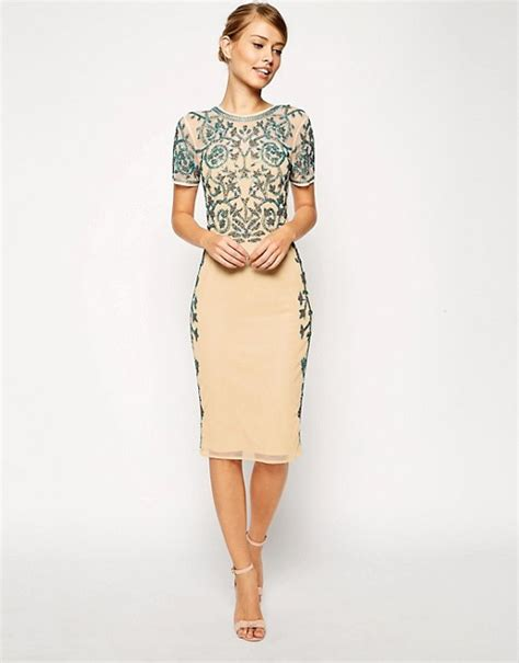 Dress Of The Day Embellish Shift Dress by Asos Asos Baroque Embellished Midi Shift Dress