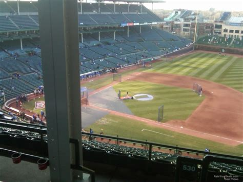 wrigley field view from seats wrigley field section 530 chicago cubs rateyourseats