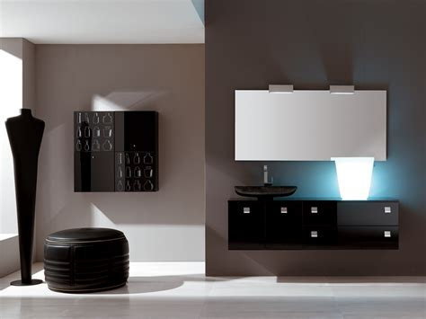 New Black And White Bathroom Furniture Modo By Eurolegno Black Bathroom Furniture