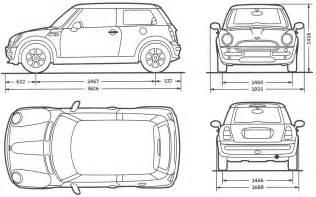 Car Plans Mini Car Blueprints Die Autozeichnungen Les Plans D
