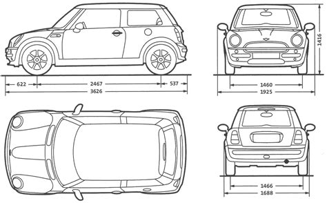 blue print size car new mini the photo thumbnail image of figure drawing pictures schematize car