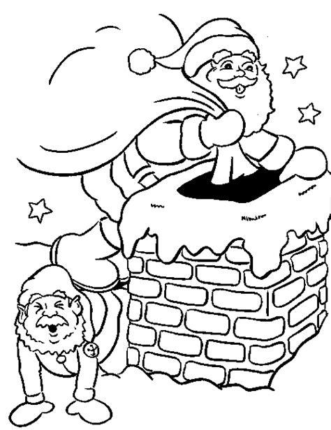 coloring pages santa chimney santa in the chimney familycorner com 174