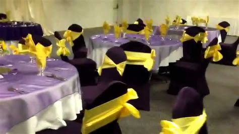 Purple and Canary Yellow Wedding Reception at Diamond