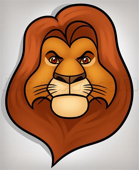 Mufasa Drawing how to draw mufasa easy step by step disney characters