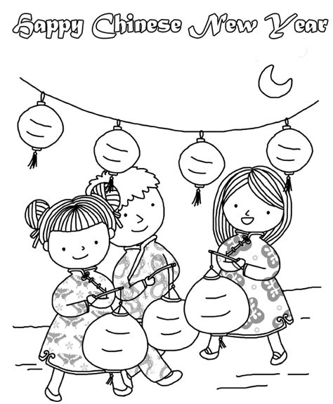 preschool coloring pages chinese new year chinese new year coloring pages best coloring pages for kids