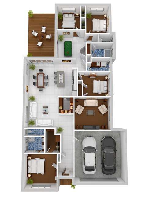 50 four 4 bedroom apartment house plans 3d apartments and google search