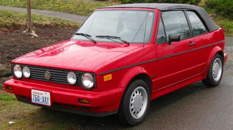 volkswagen rabbit 1990 1990 volkswagen cabriolet information and photos