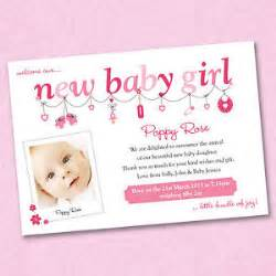 25 x personalised photo new baby birth announcement gift thank you cards ebay