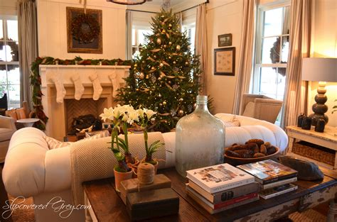 Christmas Home Interiors by Southern Living Idea House 2012 Christmas Slipcovered Grey